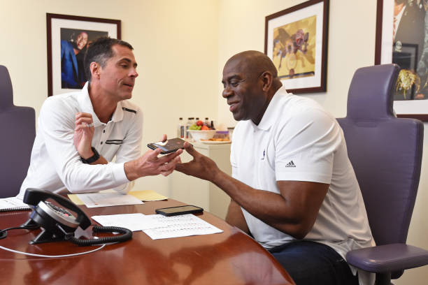 Los Angeles Lakers Draft Room during 2017 NBA Draft