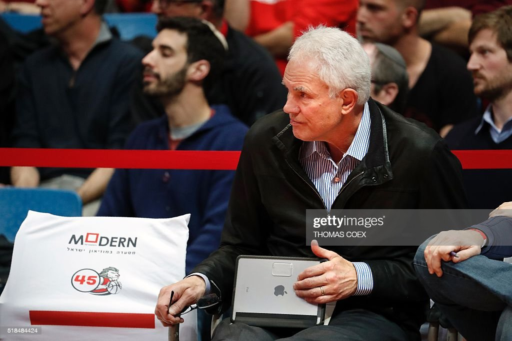 Los Angeles Lakers General Manager US Mitch Kupchak attends the Israeli Winner League match between Maccabi Tel Aviv and Hapoel Jerusalem to observe Maccabi Tel Aviv's Croatian player Dragen Bender (unseen) at the Pais Arena in Jerusalem on March 21, 2016. Dragan Bender's name is not yet well known beyond hardcore basketball fans, but that may soon change. Bender, currently playing for Israeli club Maccabi Tel Aviv, is expected to be highly sought after by US professional basketball teams in the coming months. COEX