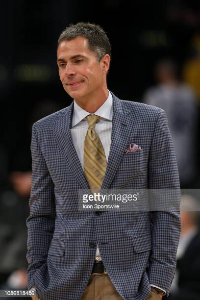 Los Angeles Lakers GM Rob Pelinka before the Golden State Warriors game versus the Los Angeles Lakers on January 22 at the Staples Center in Los...
