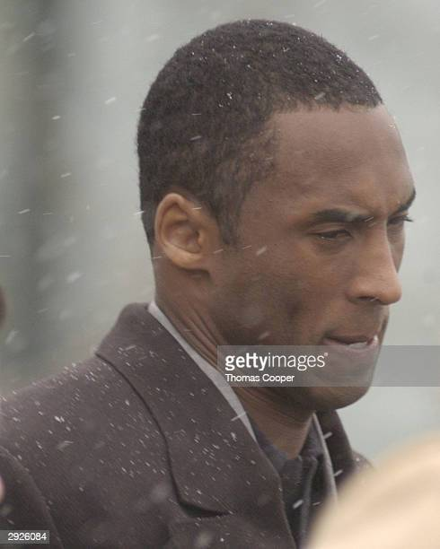 Los Angeles Lakers guard Kobe Bryant leaves court at the end of the day at the Eagle County Justice Center where hearings are taking place February 3...