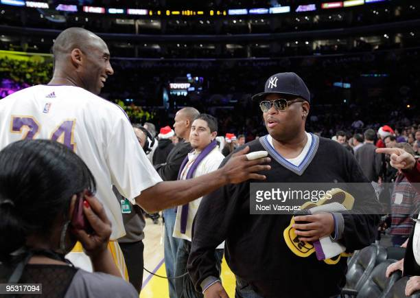 Los Angeles Lakers Kobe Bryant greets Cee-lo at a game between the Cleveland Cavaliers and the Los Angeles Lakers at Staples Center on December 25,...
