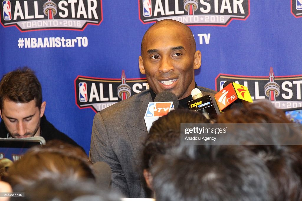 NBA All-Star media conference in Toronto : News Photo
