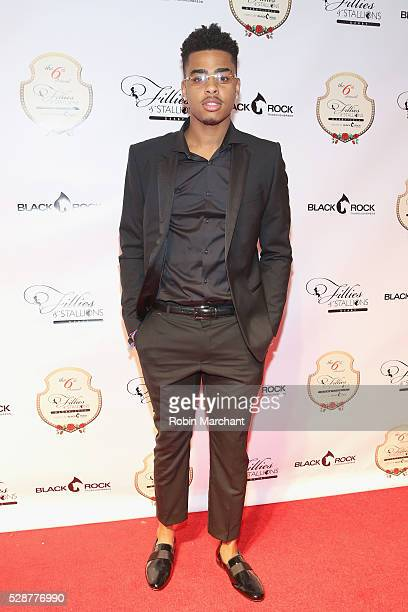 Los Angeles Lakers player D'Angelo Russell attends The 6th Annual Fillies Stallions Kentucky Derby party hosted by Black Rock Thoroughbreds along...