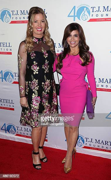 Los Angeles Lakers president Jeanie Buss and TV personality Paula Abdul attend the TJ Martell Foundation's Spirit of Excellence Awards at the Beverly...