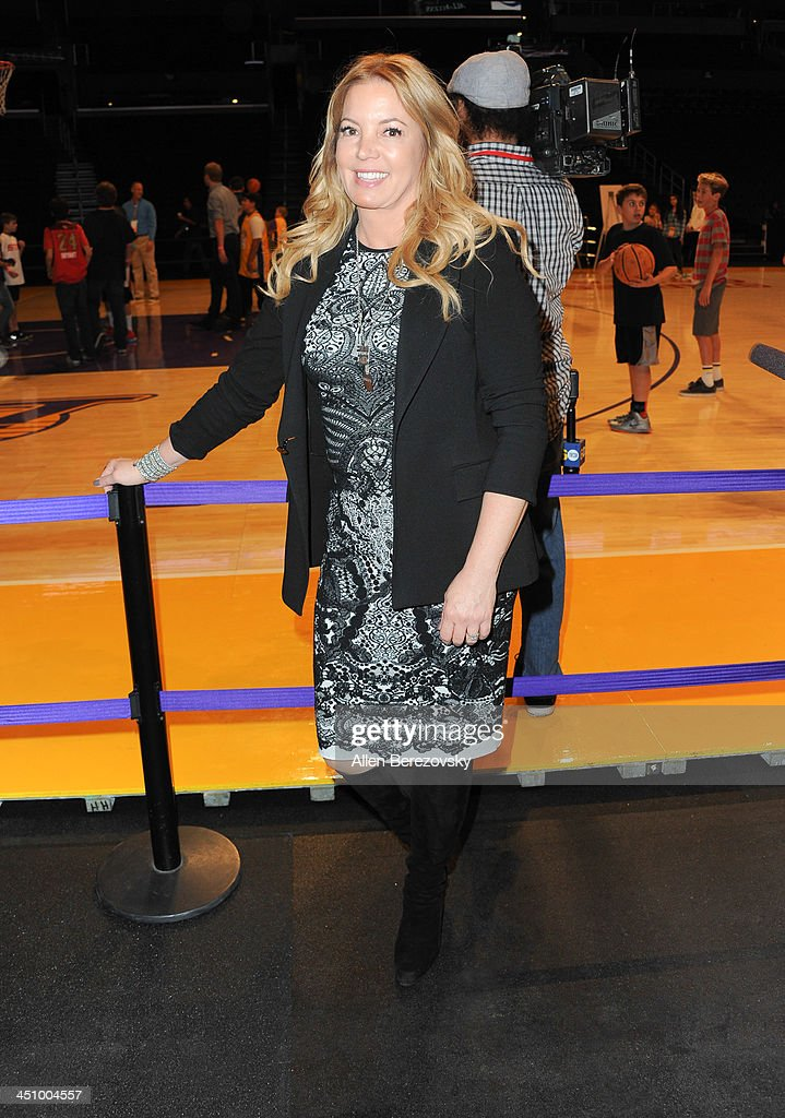 Los Angeles Lakers president of business operations Jeanie Buss attends the Los Angeles Sports and Entertainment Commission's 10th annual Lakers All-Access event at Staples Center on November 20, 2013 in Los Angeles, California.