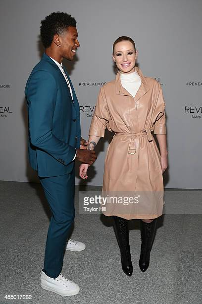 Los Angeles Lakers small forward Nick Young and Rapper Iggy Azalea attend the REVEAL Calvin Klein Fragrance Launch Party at 4 World Trade Center on...