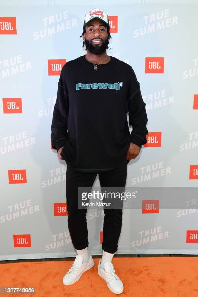 Los Angeles Lakers star Andre Drummond enjoyed some off-season fun at the JBL True Summer event, a star-studded evening with performances by Bebe...