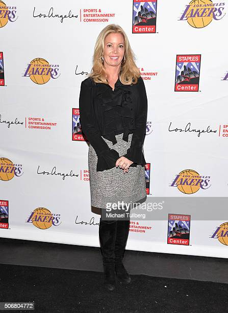 Los Angeles Lakers team President Jeanie Buss attends the 12th Annual Lakers AllAccess Event at Staples Center on January 25 2016 in Los Angeles...