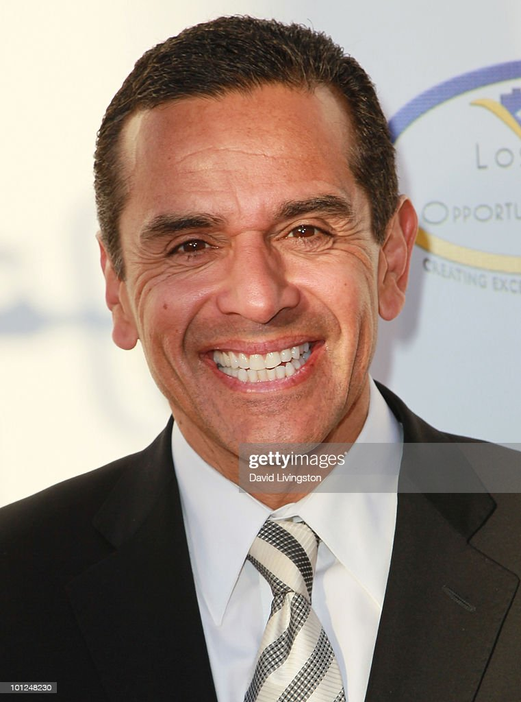 Los Angeles mayor Antonio Villaraigosa attends the 4th Annual Community Awards Red Carpet Gala at the Boyle Heights Technology Youth Center on May 28, 2010 in Los Angeles, California.