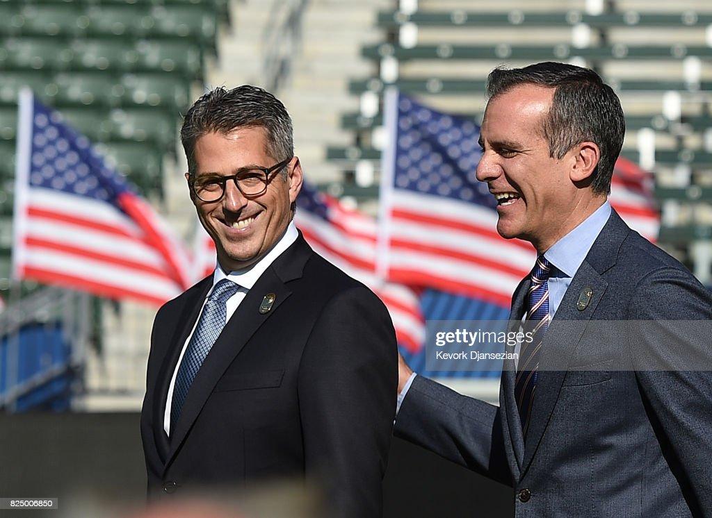 Los Angeles Mayor Garcetti Announces The City As Host Of 2028 Summer Olympics