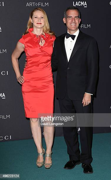 Los Angeles Mayor Eric Garcetti and wife Amy Wakeland attend the LACMA Art Film Gala honoring Alejandro G Iñárritu and James Turrell and presented by...