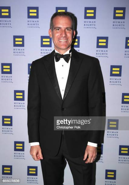 Los Angeles Mayor Eric Garcetti at The Human Rights Campaign 2017 Los Angeles Gala Dinner at JW Marriott Los Angeles at LA LIVE on March 18 2017 in...