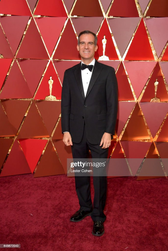 Los Angeles Mayor Eric Garcetti attends the 89th Annual Academy Awards at Hollywood & Highland Center on February 26, 2017 in Hollywood, California.