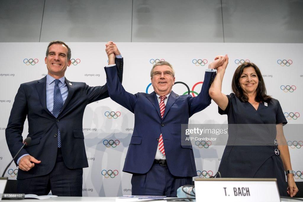 TOPSHOT-OLY-2024-2028-IOC-PARIS-LOSANGELES : News Photo