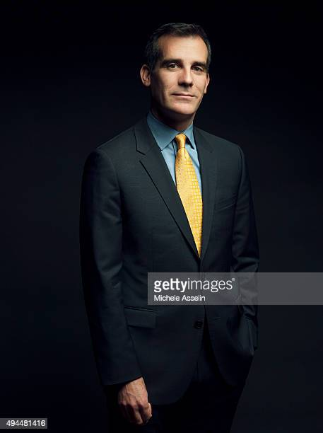 Los Angeles Mayor Eric Garcetti is photographed for Time Magazine on February 25 2014 in Los Angeles California