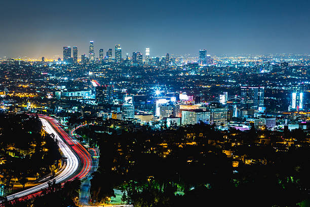Los Angeles Night Cityscape Wall Art