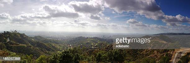 los angeles panorama - griffith park stock pictures, royalty-free photos & images