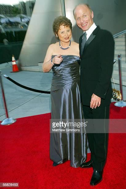 Los Angeles Philharmonic Association President Deborah Borda and actor Ed Harris arrive at the opening night gala of the Los Angeles Philharmonic at...