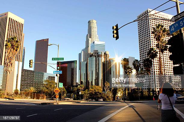los angeles. - de stad los angeles stockfoto's en -beelden