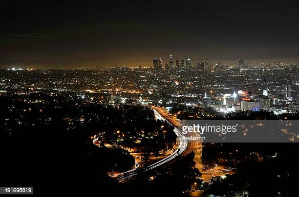 los angeles - mulholland drive stock photos and pictures