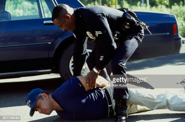 los angeles police arrest training - los angeles police department stock pictures, royalty-free photos & images