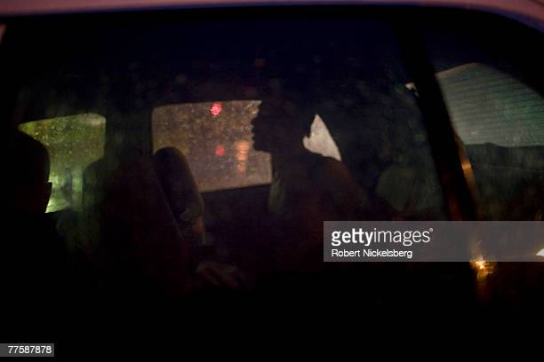 Los Angeles Police Department gang unit officers take into custody a 22year old man for illegal possession of a 25 caliber pistol September 21 2007...