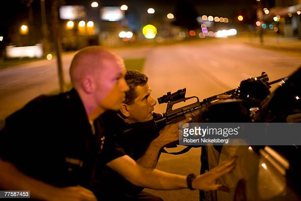 Los Angeles Police Department officers assist other police units in a possible armed kidnapping incident September 22 Los Angeles Police Department...