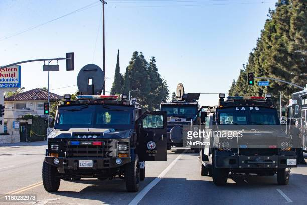 Los Angeles Police Department officers exercise and maintain law enforcement for a city population of 4 million people Los Angeles CA USA 2018