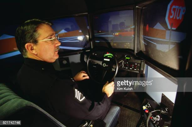 los angeles police driving simulator - los angeles police department stock pictures, royalty-free photos & images