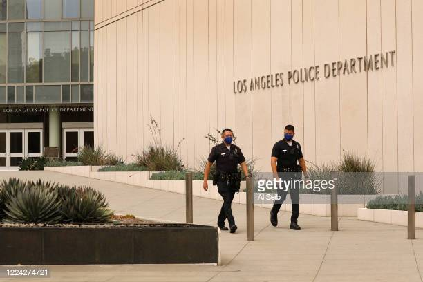 Los Angeles Police Headquarters located at First and Spring Street in downtown Los Angeles July 1, 2020 as Los Angeles City Council voted to cut...