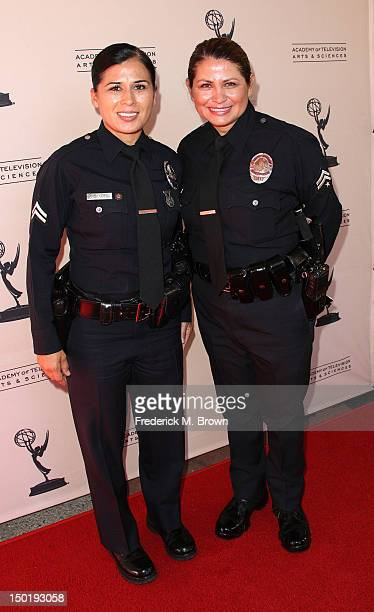 Los Angeles Police officers attend The Academy Of Television Arts Sciences 64th Los Angeles Area Emmy Awards at the Leonard H Goldenson Theatre on...