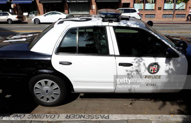 Los Angeles police vehicle in Little Tokyo in Los Angeles California on September 10 2017