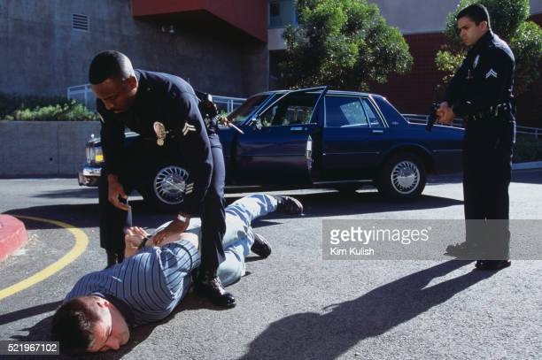 los angeles police violent arrest training - los angeles police department stock pictures, royalty-free photos & images