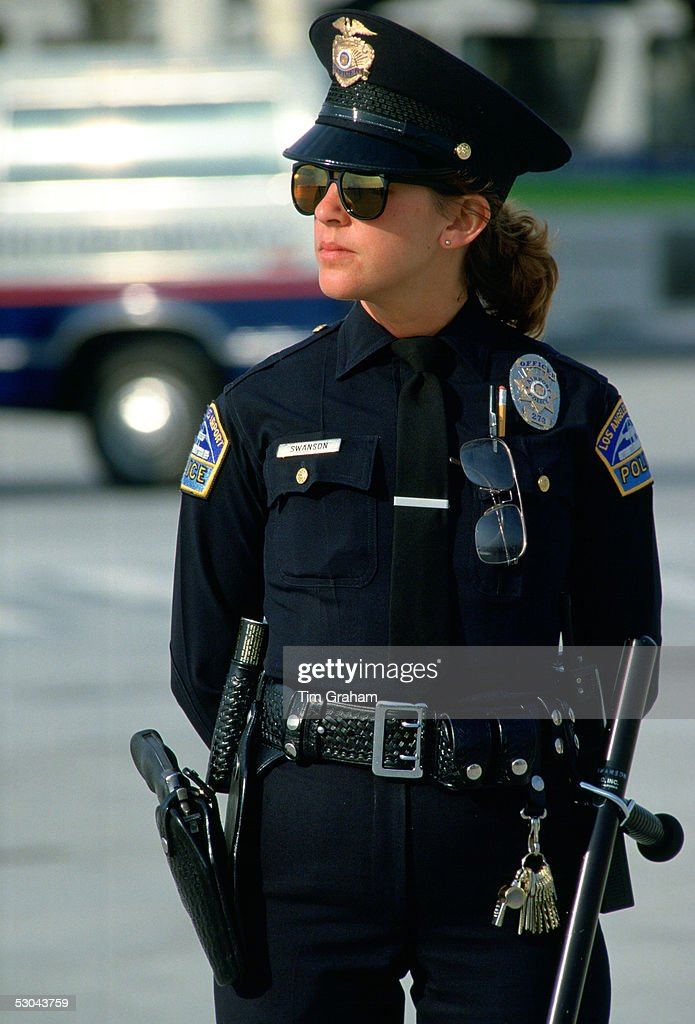Los Angeles policewoman part of the Los Angeles Police Department (LAPD), USA.