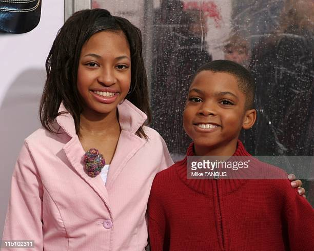Los Angeles Premiere of 'Are We There Yet' in Westwood United States on January 09 2005 Aleisha Allen and Philip Bolden at Mann Village Theatre