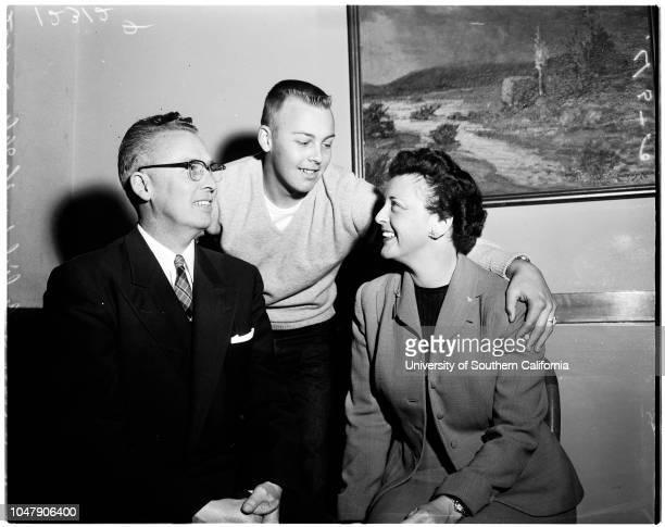 Los Angeles Presbytery moderator 14 March 1958 Reverend Stanley Frederick GeorgeMrs Helen George Carlisle George Caption slip reads 'Photographer...