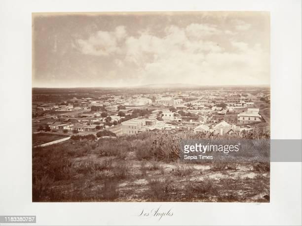 Los Angeles printed circa 1876, Albumen silver print from glass negative, Photographs, Carleton E. Watkins .