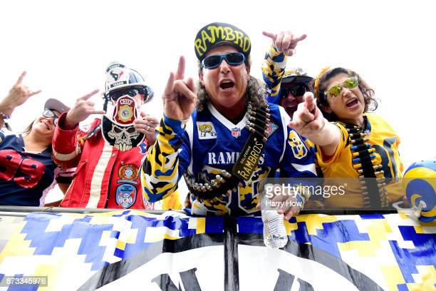 Los Angeles Rams fans are seen during the game against the Houston Texans at the Los Angeles Memorial Coliseum on November 12 2017 in Los Angeles...