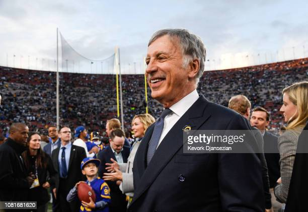 Los Angeles Rams owner Stan Kroenke looks on ahead of the NFC Divisional Round playoff game against the Dallas Cowboys at Los Angeles Memorial...