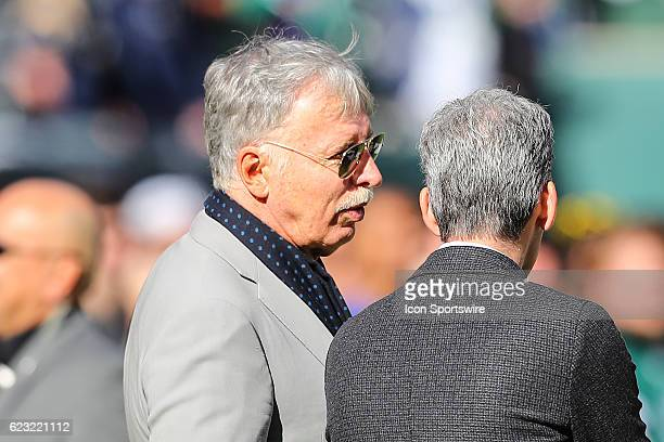 Los Angeles Rams Owner Stan Kroenke prior to the National Football League game between the New York Jets and the Los Angeles Rams on November 13 at...