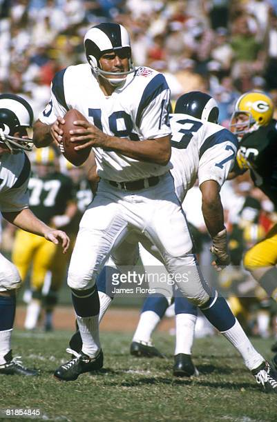 Los Angeles Rams quarterback Roman Gabriel drops back to pass in a 34-21 win over the Green Bay Packers on .