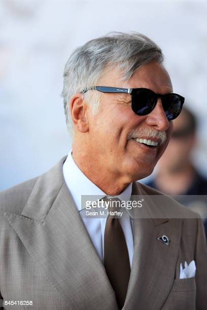 Los Angeles Rams team owner Stan Kroenke attends the first game of the season against the Indianapolis Colts at Los Angeles Memorial Coliseum on...
