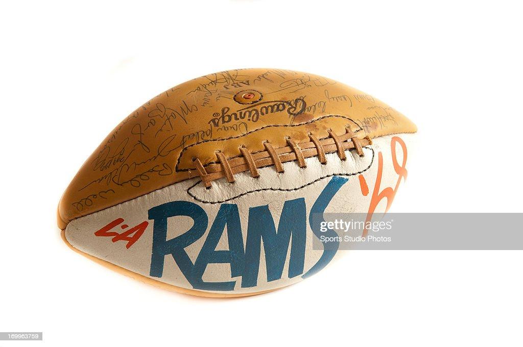 Los Angeles Rams trophy football.