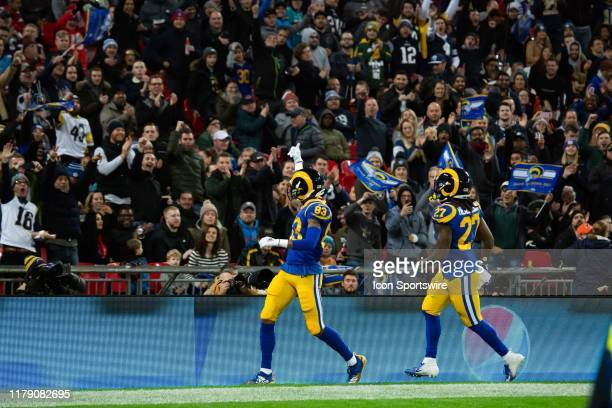 Los Angeles Rams Wide Receiver Josh Reynolds celebrates after a touchdown during the NFL game between the Cincinnati Bengals and the Los Angeles Rams...