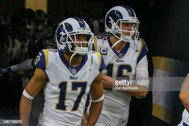 Los Angeles Rams wide receiver Robert Woods and Los Angeles Rams quarterback Jared Goff coming out of the tunnel of the Mercedes-Benz Superdome...