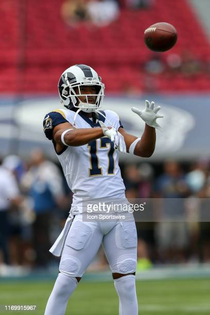 Los Angeles Rams wide receiver Robert Woods before an NFL football game between the New Orleans Saints and the Los Angeles Rams on September 15 at...