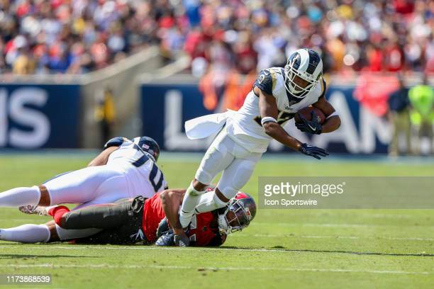 Los Angeles Rams wide receiver Robert Woods catches a pass during an NFL football game between the Tampa Bay Buccaneers and the Los Angeles Rams on...