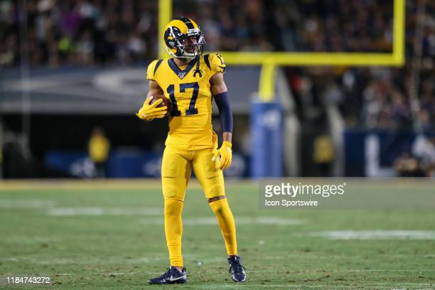Los Angeles Rams wide receiver Robert Woods during the Baltimore Ravens vs Los Angeles Rams football game on November 25 at the Los Angeles Memorial...
