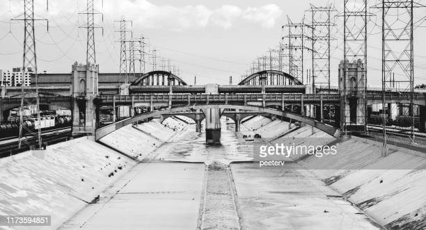 los angeles river canal - east stock pictures, royalty-free photos & images