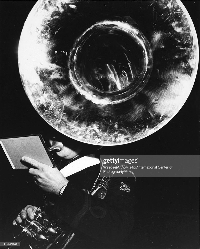 Los Angeles Salvation Army Marching Band, Los Angeles, California, ca. 1950. (Photo by Weegee (Arthur Fellig)/International Center of Photography/Getty Images)